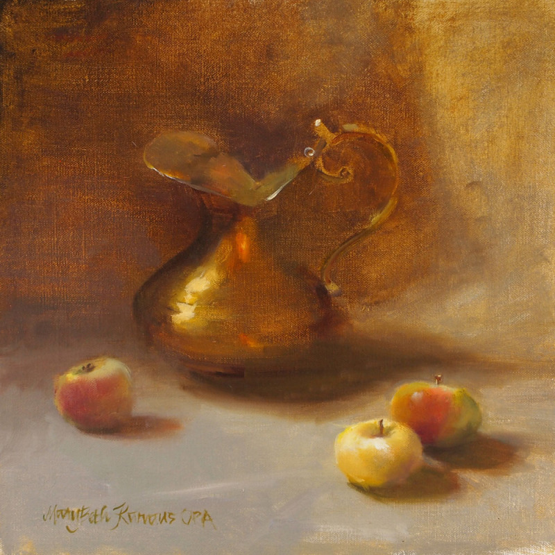 Apples and Brass Pitcher