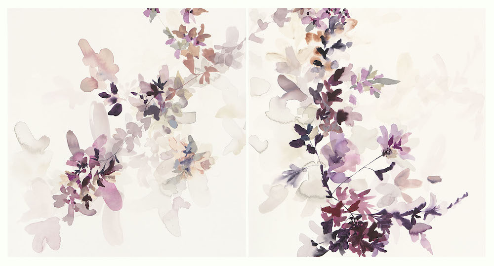 Wildflower Study Lilac and Smoke I