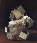 <b>Cluster of Pyrite</b>, 2015<br>Oil on canvas, 10x8 inches<br>$950