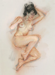 <b>Cassandra Study II</b>, 2013<br>Pastel on paper, 26x19 inches<br>$750