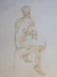 <b>Figure XXVIII</b><br>Pastel on paper, 23x17 inches unframed<br>$400
