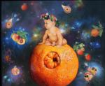 <b>Oh, This Wonderful World: Orange</b>, 2001<br>Oil on linen, 20x24 inches<br>$5000