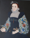 <b>Lady with Insects</b><br>Oil, 44x36 inches<br>$3000