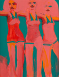 <b>Cheerleader Study #4</b>, 2016<br>Gouache on paper, 14x11 inches<br>$750
