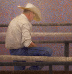 <b>Waiting for His Turn</b>, 2015<br>Oil on canvas, 24x24 inches<br>$3600