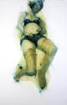 <b>Girl in Green</b><br>Pastel and Lacquer on paper, 38x26 inches unframed<br>$1200