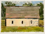 <b>Johnson Barn</b>, 2016<br>Monoprint, 12x16 inches<br>$1700