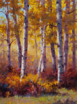 <b>Aspen and Oaks</b>, 2013<br>Oil, 24x18 inches<br>$3000