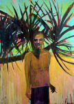 <b>Young Matisse at the Flora-Bama</b>, 2016<br>Oil on canvas, 84x60 inches<br>$7200