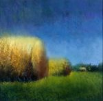 <b>Haybales</b><br>Pastel, 12x12 inches<br>$1600
