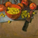 <b>Harvest Time by Carol Marine</b>, 2009<br>Oil on panel, 20x20 inches<br>$1400