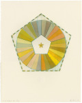 <b>72&amp;#186; Woodcut Color Wheel #11</b>, 2014<br>Drypoint and woodcut, 19x15 inches, 27x21 inches framed<br>$800
