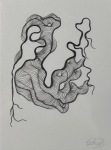 <b>Underline</b>, 2014<br>Graphite on paper, 16x21 inches framed<br>$425