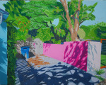 <b>Empty Driveway by Nola Parker</b>, 2017<br>Acrylic gouache on panel, 16x20 inches<br><i>sold</i>