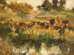 <b>Waterhole</b>, 2012<br>Oil on canvas panel, 16x20 inches<br>$2000