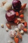 <b>Habaneros and Onions by Mary Beth Karaus</b>, 2012<br>Oil on canvas, 36x24 inches<br>$3200