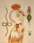 <b>Rising from the Ashes</b><br>Stone and Plate Lithography, AP, 14x11.5 inches<br><i>sold</i>