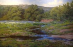 <b>Hill Country Spring</b>, 2013<br>Oil on canvas, 48x72 inches, 53x77 inches framed<br><i>sold</i>