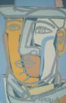 <b>The Man Who Went Out West</b>, 2013<br>Oil &amp; Acrylic on canvas, 40x26 inches<br>$5800