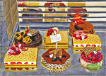 <b>Paris Pastries by Richard Ewen</b>, 2009<br>watercolor, 20.75 x 29.25 inches<br>$1200
