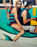 <b>The Jet Ski</b>, 2013<br>Oil on canvas, 60x48 inches<br>$4000