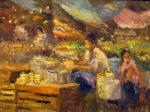 <b>Mercado San Miguel</b>, 2012<br>Oil on canvas panel, 16x20<br>$2000