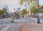 <b>Carousel on 7th Avenue</b>, 2017<br>Oil on canvas, 21x29 inches<br>$2000