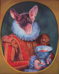 <b>Loving Cup, Castle Dracula</b>, 2011<br>Oil on wood panel, 20x16 inches<br>$5000
