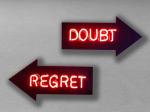 <b>Doubt/Regret</b>, 2011<br>Vintage neon, acrylic and electrical parts, <br>$3200