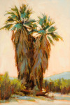 <b>Desert Palms</b>, 2015<br>Oil on panel, 18x12 inches<br>$1900