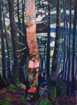 <b>One Pink Tree</b>, 2015<br>Acrylic on canvas, 48x36 inches<br>$3400