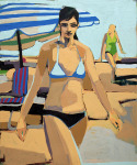 <b>Blue Bikini</b>, 2013<br>Oil on canvas, 72x60 inches<br>$5600