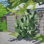 <b>Alley Cactus</b>, 2016<br>Gouache on panel, 6x6 inches<br><i>sold</i>