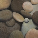 <b>River Rocks I</b>, 2014<br>Oil on canvas, 24x24 inches<br>$3200