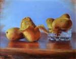<b>Champagne Mangos</b>, 2013<br>Oil on copper, 11x14 inches<br><i>sold</i>