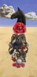 <b>Succession by Amy Guidry</b>, 2012<br>Acrylic on canvas, 12x6 inches<br><i>sold</i>