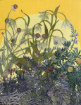 <b>Native Plant Collage I by Julia Lucey</b>, 2017<br>Aquatint etching collage on panel, 18x14 inches<br><i>sold</i>