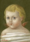 <b>Bound Cupid</b>, 2013<br>Oil on panel, 7x5 inches<br><i>sold</i>