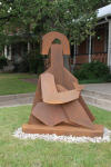 <b>Sculpture</b>, 2012<br>Corten Steel, 7 feet tall<br>$28000