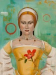 <b>Mistress Zouche with Pearls</b>, 2014<br>Oil on canvas, 40x30<br>$3600