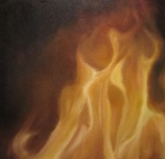 <b>Fire</b>, 2015<br>Oil on canvas, 36x38 inches<br>$6300