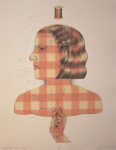 <b>Plaid Her Whole Life</b><br>Stone and Plate Lithography, Edition 36/40, 19x15 inches<br>$500