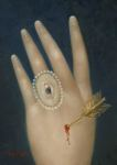 <b>Wounded Hand With Lovers Eye</b>, 2015<br>Oil on panel, 7x5 inches<br>$1500