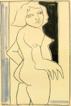 <b>Woman in the Doorway</b>, 2010<br>Pencil &amp; Ink on Paper, 22x15 inches<br>$1100