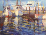 <b>Shrimp Boats at Fulton</b><br>Pastel on board, 18x24 inches, 25x31 inches framed<br>$2000