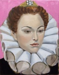 <b>Study of Catherine de Medici</b>, 2015<br>Oil and pencil on canvas, 14x11 inches<br>$700