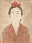 <b>Kate As Frida</b>, 2012<br>Woodcut and drypoint on paper, 8x6 plate, 15x11 paper unframed<br>$400