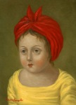 <b>Yellow and Red</b>, 2013<br>Oil on panel, 7x5 inches<br><i>sold</i>