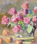 <b>Roses</b>, 2010<br>Oil on panel, 20x16 inches<br>$2000
