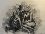 <b>The Leftovers</b>, 2017<br>charcoal on paper, 22x30 inches<br>$1800